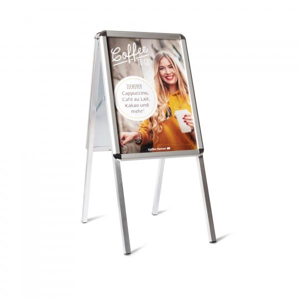 Kundenstopper im Set mit Plakat - von Kaffee Partner