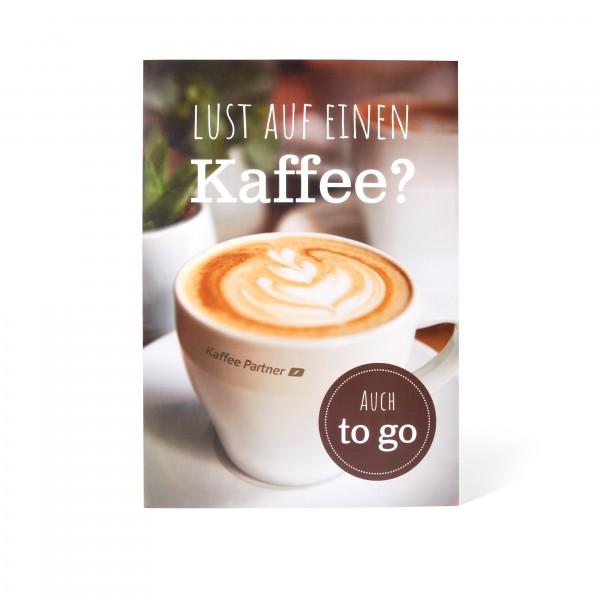 """Kaffee Partner Poster DIN A2 - Motiv """"Tasse"""" frontal"""