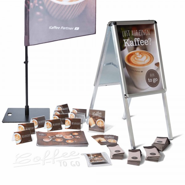Coffee Promotion Set Gastro Plus mit Kundenstopper