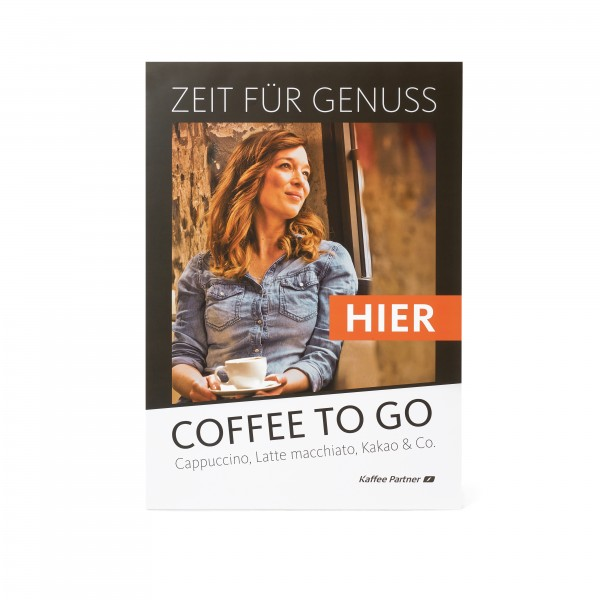 Coffee to go Plakat DIN A2