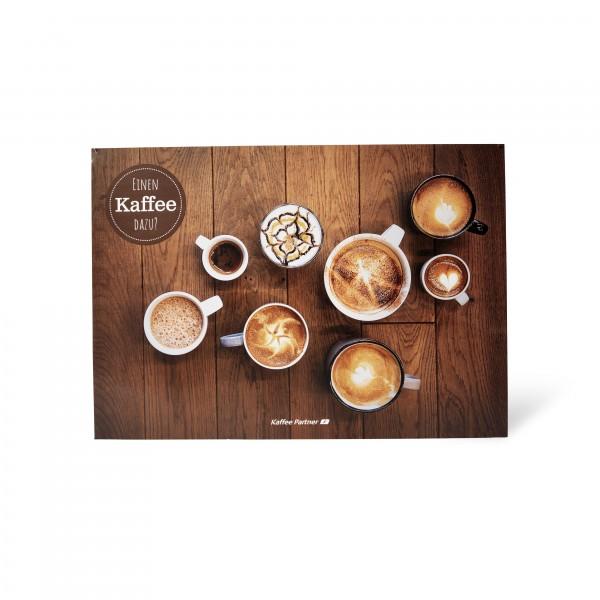 Kaffee Partner Tischsets frontal