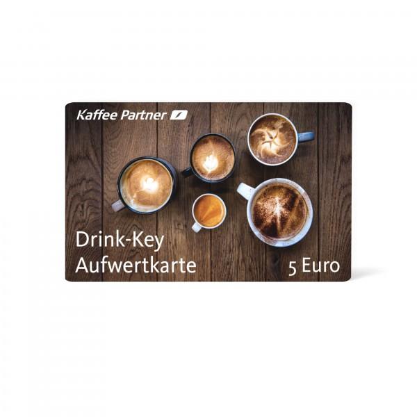 Aufwertkarte mit 5 Euro für bargeldloses bezahlen