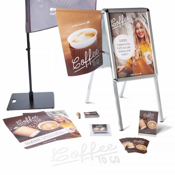 Coffee Promotion Set To Go Plus mit Kundenstopper
