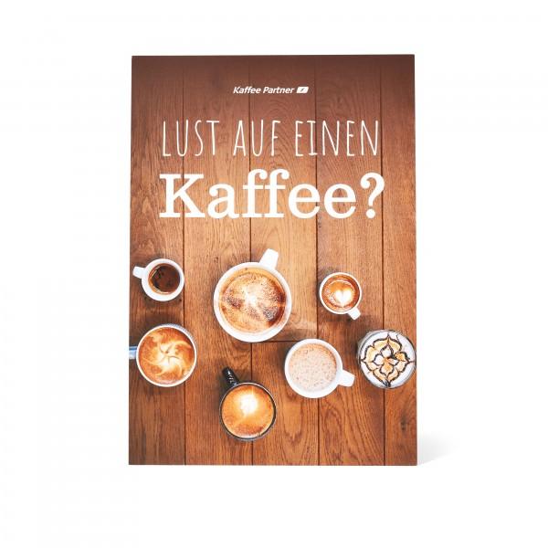 """Kaffee Partner Getränkewahlblatt A5 - Motiv """"Tasse"""" Vorderseite"""